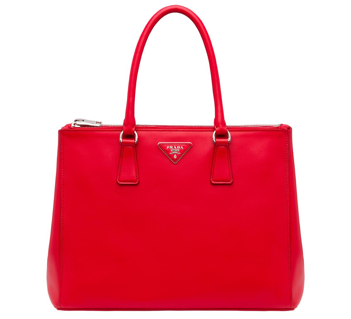 Prada Galleria Bag Laquer Red