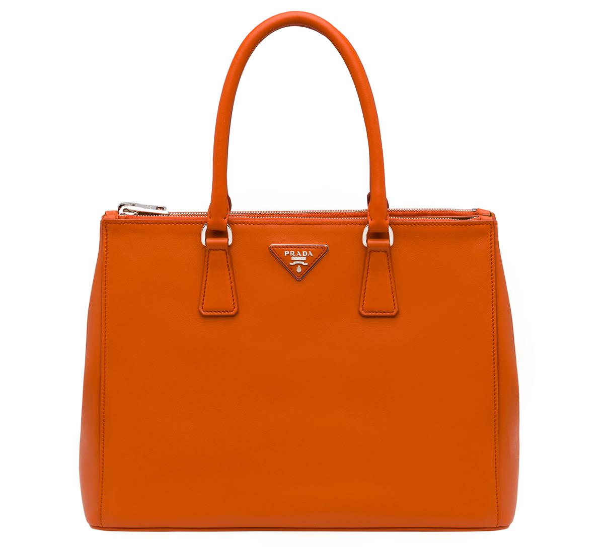 Prada Galleria Bag in Papaya