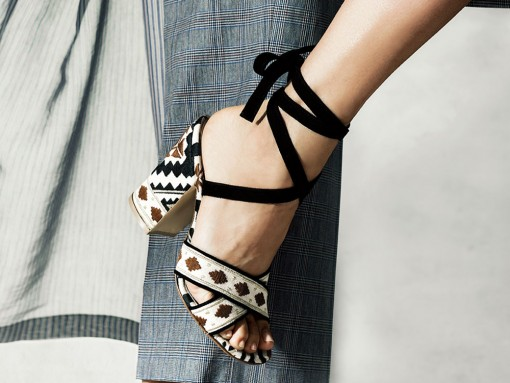 Shoes that Wrap and Tie are This Season's Footwear Must-Have