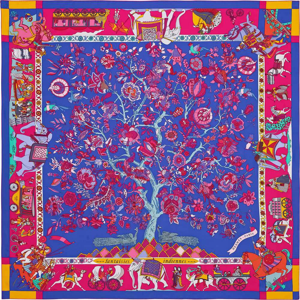 Hermes-Fantaisies-Indiennes-Silk-Twill-Giant-Scarf