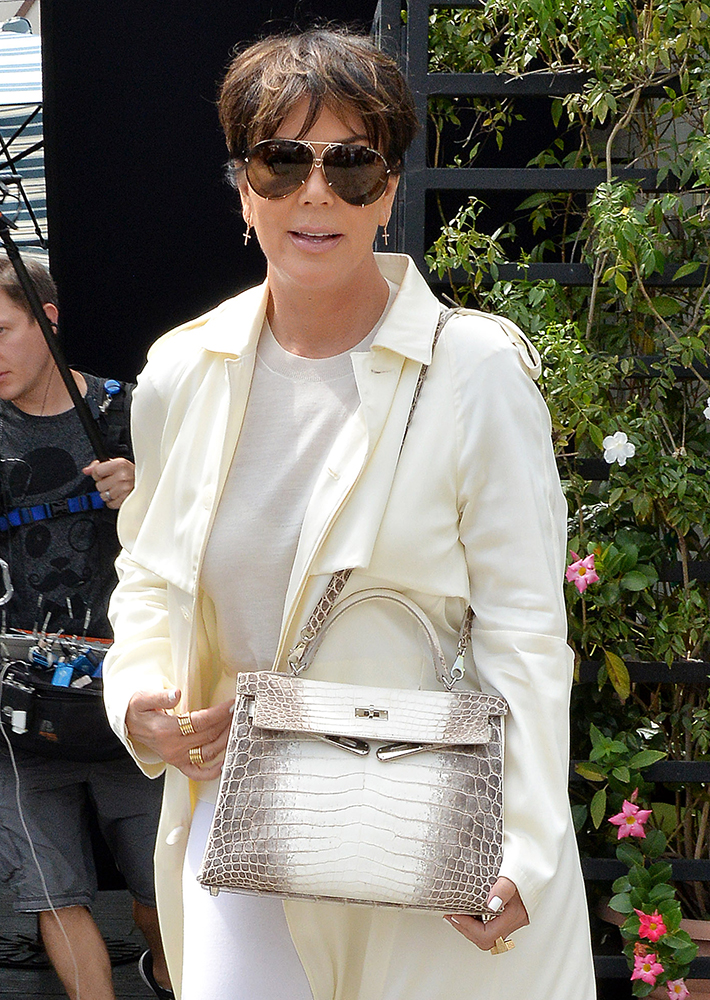 Kris-Jenner-Hermes-Himalayan-Crocodile-Kelly-Bag