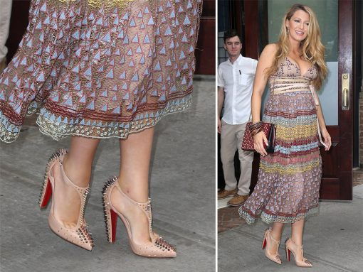 Blake Lively Has Embarked on Another Summer of Press Appearances in Christian Louboutin Shoes