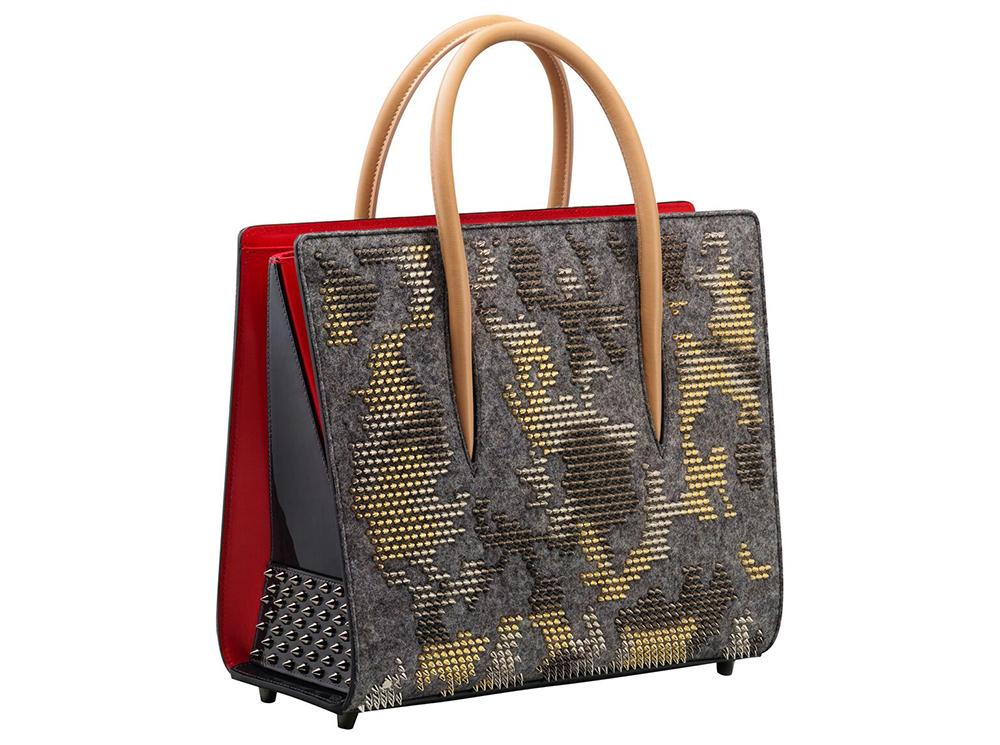 Christian Louboutin Paloma Medium Spike Camouflage Tote Bag