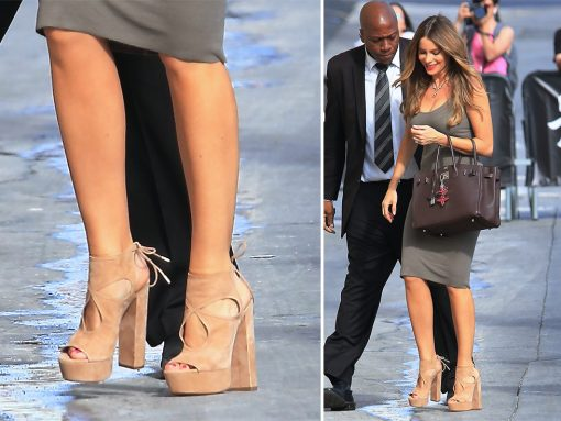 Sofia Vergara Loves Her Platform Sandals and Pumps, No Matter the Occasion