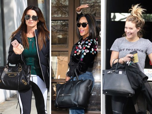 Celebs Carry Bags from Versace, Louis Vuitton and The Row While Promoting Their Latest Projects