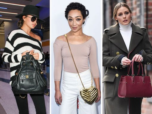Celebs Gear Up for Awards Season with Beautiful Bags from Gucci, Saint Laurent, & Longchamp