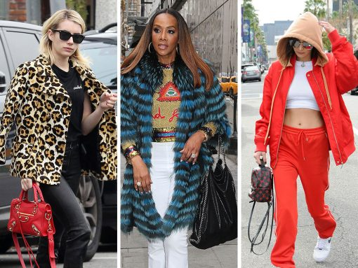 Bright Red, Logos and Stella McCartney Were the Overwhelming Celeb Bag Faves Last Week