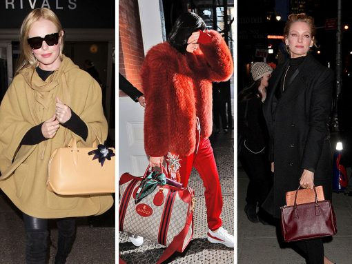 Celebs Attempt to Avoid Your Prying Gaze with Bags from Dior, Gucci and Chanel