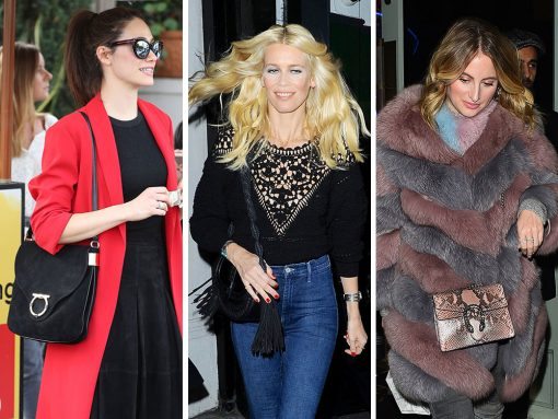 Celebs Step Up Their Game with Black Suede Bags from Altuzarra, Salvatore Ferragamo