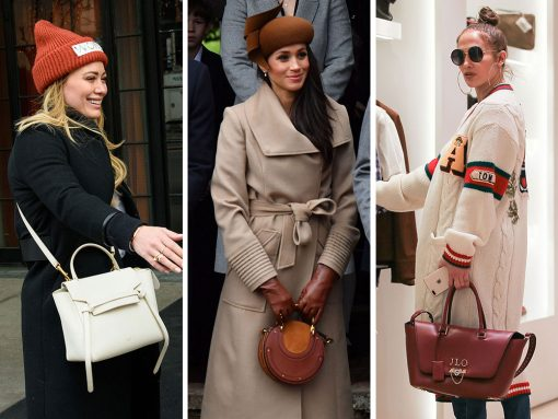 Celebs Put a Bow on the Holidays with Bags from Gucci, Valentino and Chloé