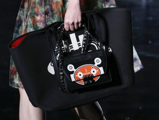 For Its Fall 2018 Bags, Prada Contemplates a Dark, Man-Made Future