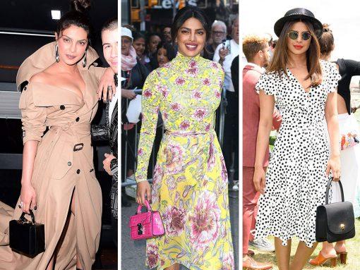 Priyanka Chopra's Colorful, Modern Taste in Bags Delights and Surprises
