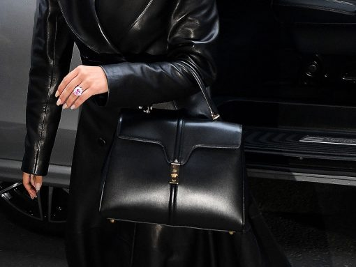 Hedi Slimane's First Céline Bag Debuts on the Arm of Lady Gaga