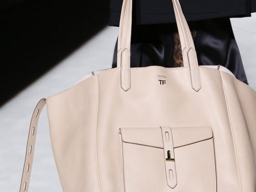 Tom Ford's Spring 2019 Runway was Packed With Brand New Bag Designs in Soft, Gorgeous Leather