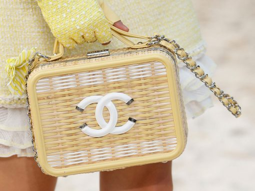 Chanel Took Its Spring 2019 Collection to the Beach, Including Terrycloth Flap Bags and Beach Ball Clutches