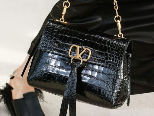 Valentino Bets Big with New Logo Hardware on a Rockstud-Free Handbag for Spring 2019