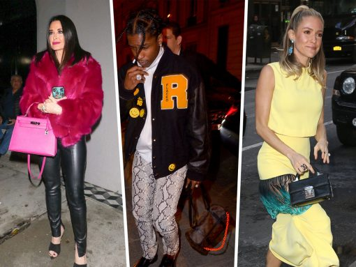 Models Make Their Way Around PFW with Bags from Louis Vuitton and Saint Laurent