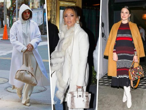 Celebs Enjoy Ideal Lighting with Bags from Fendi, Louis Vuitton and Saint Laurent