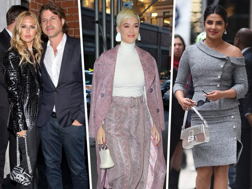 Celebs Exit Restaurants and Hotels in Perpetuity with Bags from Fendi, Dior and Loewe