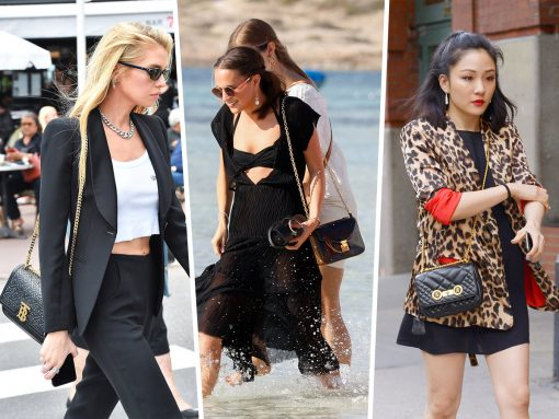 Celebs Vogue with New Bags from Burberry, Versace and Louis Vuitton