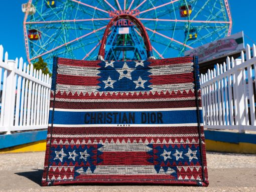 A Day with the Dior American Flag Book Tote