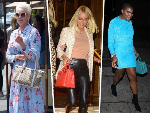 Celebs Flaunt Their Fendi, Burberry and Hermès