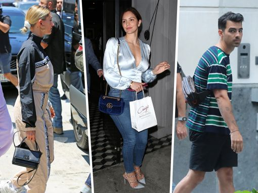 Celebs Carry Gucci in London and Louis Vuitton in San Diego