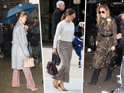 Celebs Get Caught in the Snow with Louis Vuitton, Coach and Tod's