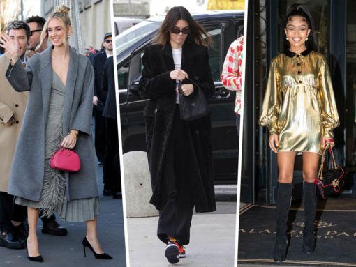 Celebs Flaunt Fendi, Gucci and Prada in Milan