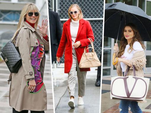 Celebs Showcase Their Chanel, Akris and Valentino Bags