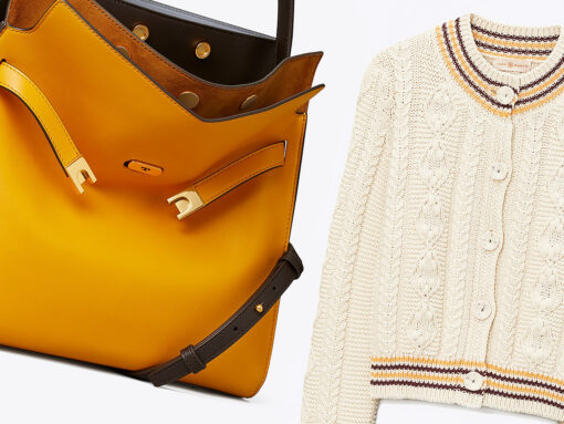 Perfect Pairs: Tory Burch Lee Radziwill Double Bag and Cable Knit Cardigan