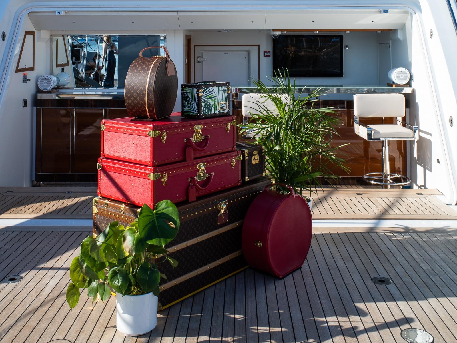 Louis Vuitton Exotics on a Miami Yacht