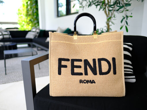 Straw Bags Are In And I Love This Fendi Sunshine Shopper