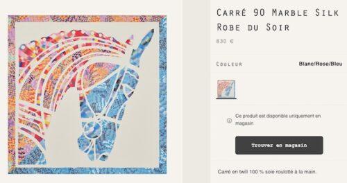 90cm Robe du Soir with Marbled Silk. Photo via Hermes.com