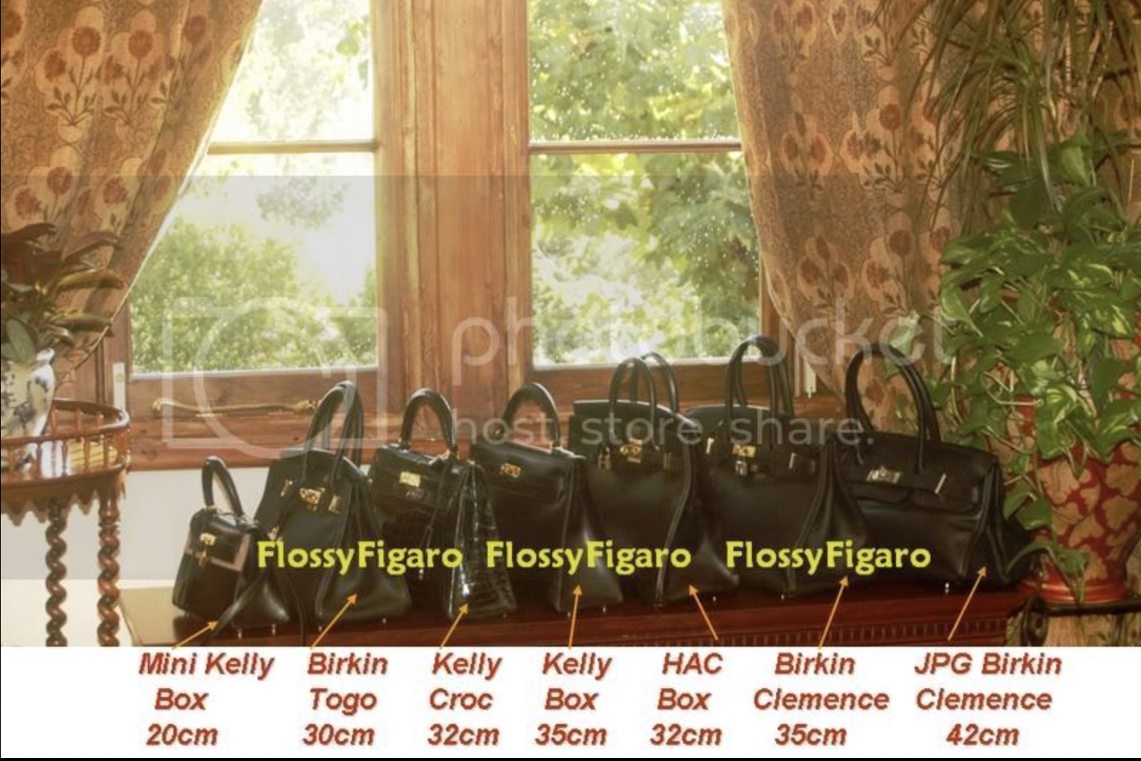 Mini Kelly (old version), B30, K32, K35, HAC32, B35, JPG42. Photo via TPFer @FlossyFigaro