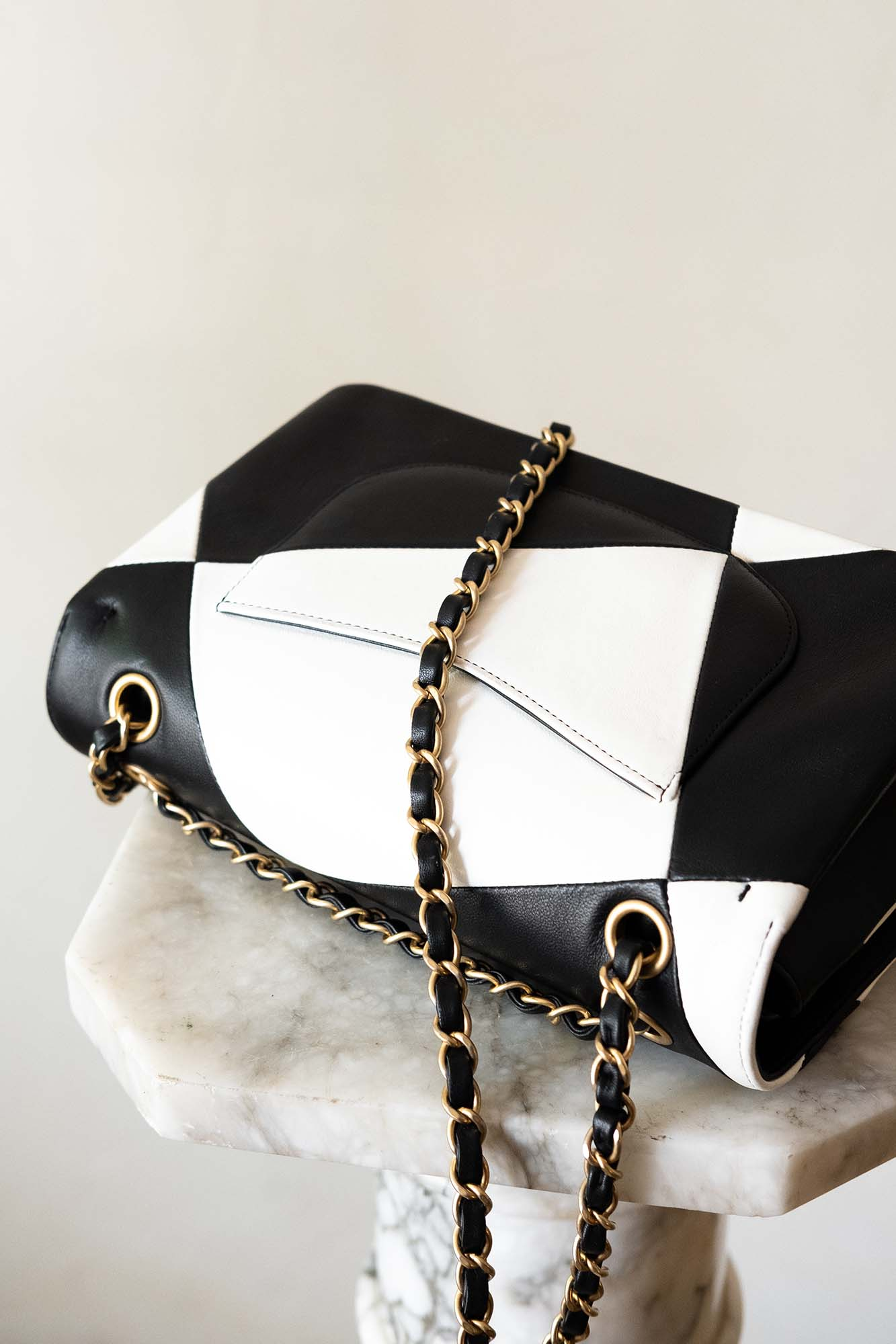 Chanel Classic Flap in Black and White