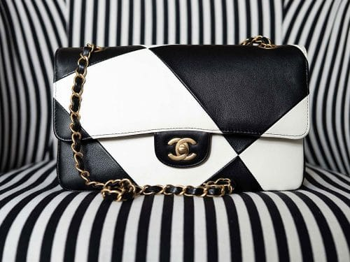 Black and White Chanel Classic Flap Bag