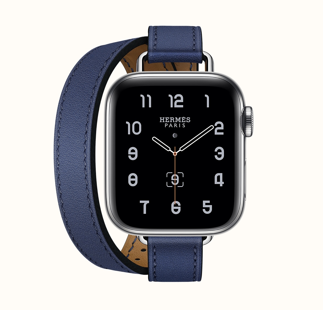 Series 6 case & Band Apple Watch Hermes Double Tour 40 mm Attelage. Photo via Hermes.com.