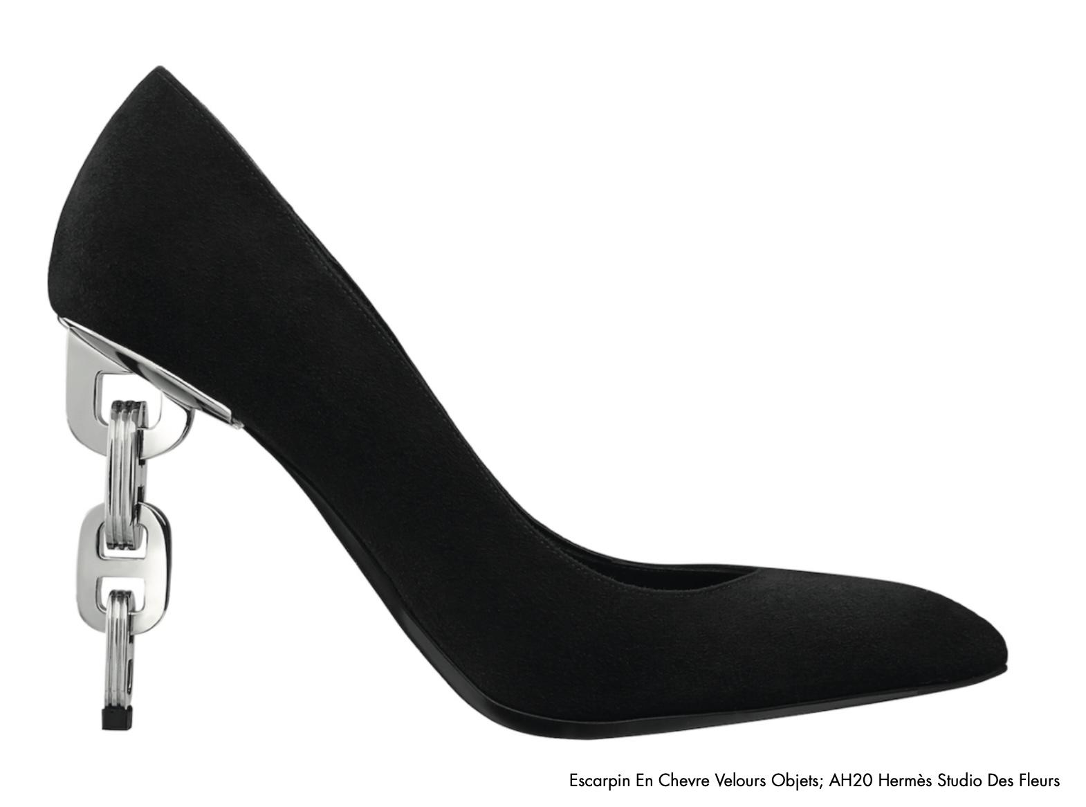 Women's Pump with Chaîne d'Ancre heel. Photo via Platform-Mag.com.
