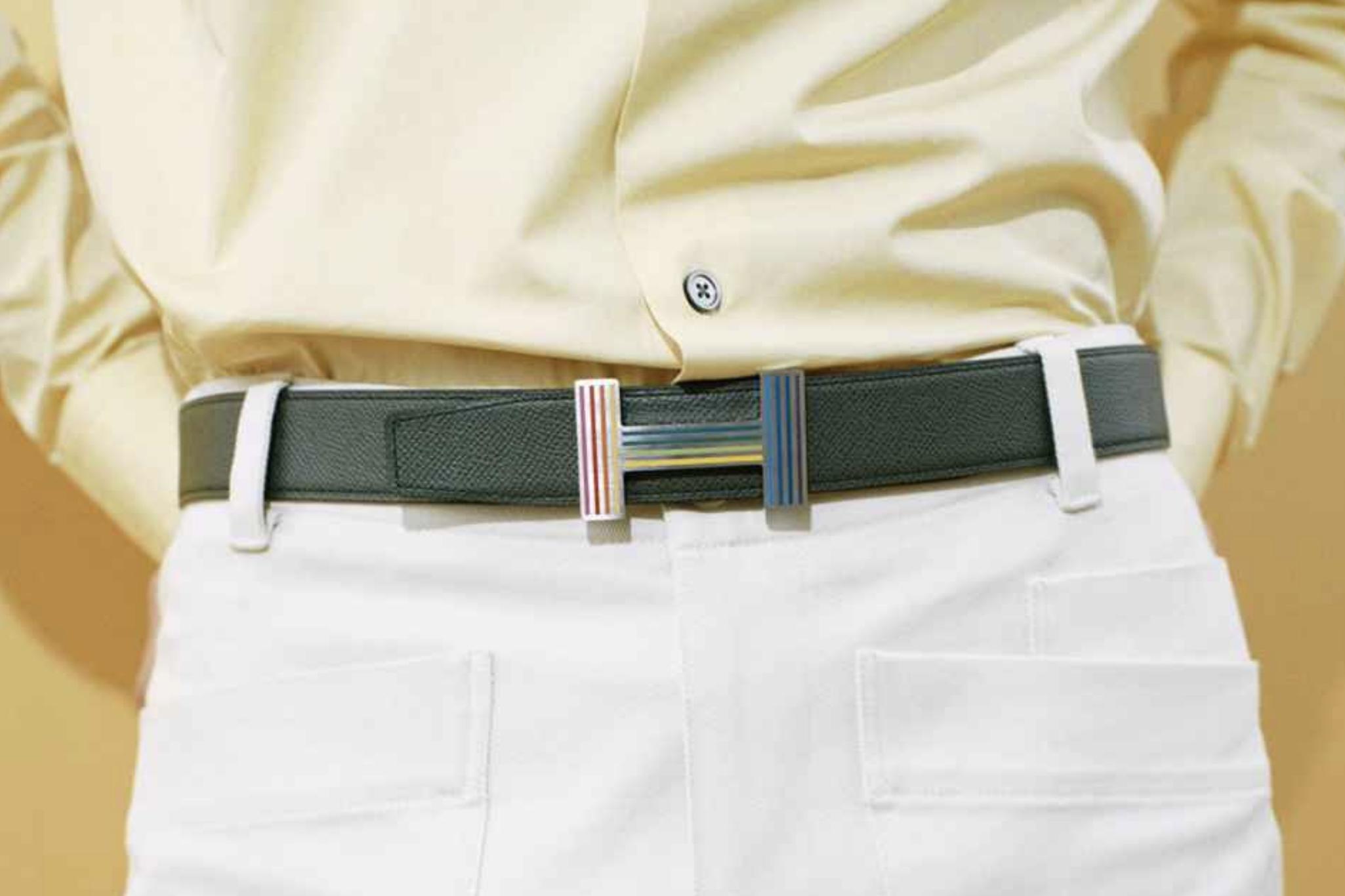 A fun men's belt buckle. Photo via Hermes.com.