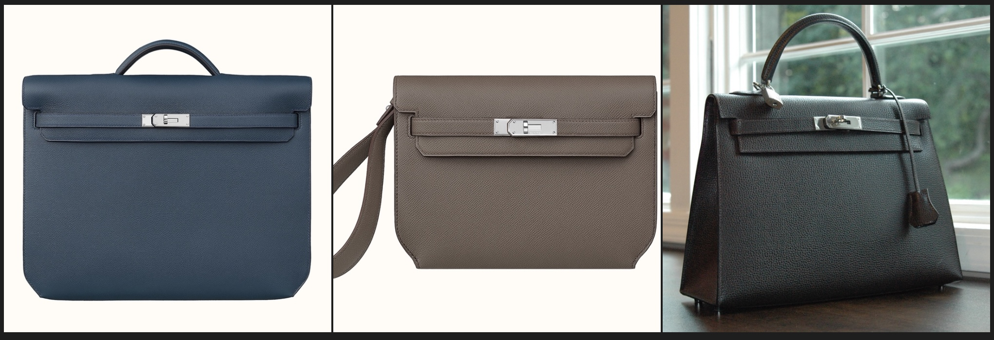 Kelly Dépêches Briefcase, Kelly Dépêches 25 Pouch, 32cm Kelly Sellier.