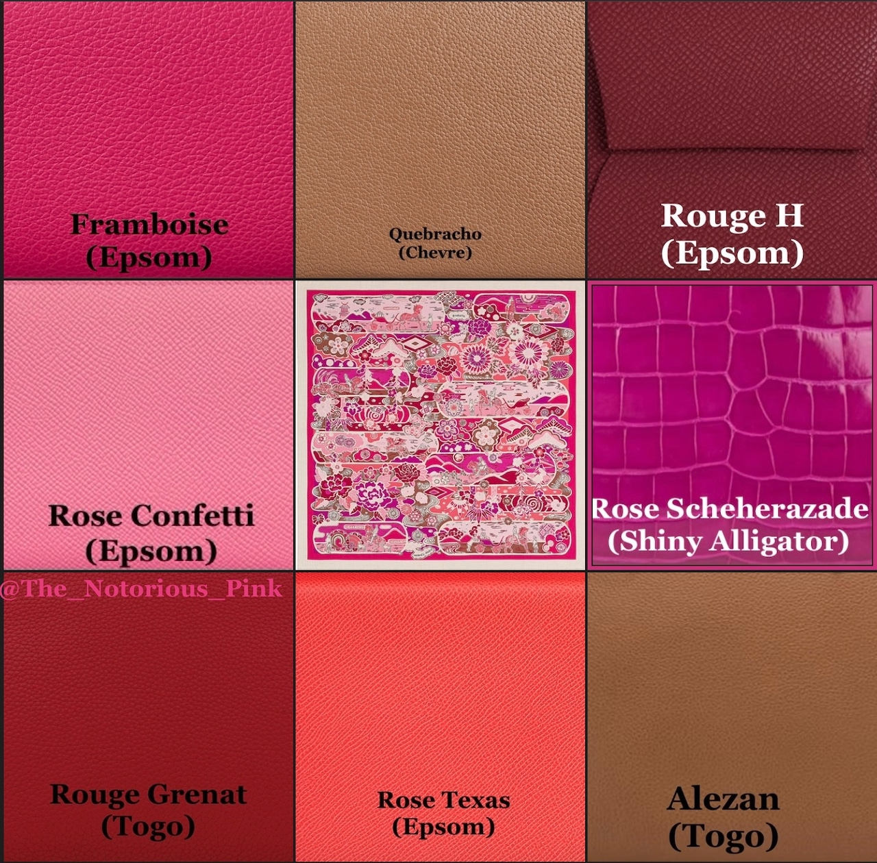 Leather matching suggestions with colors from the Autumn/Winter 2021 list, example 2.