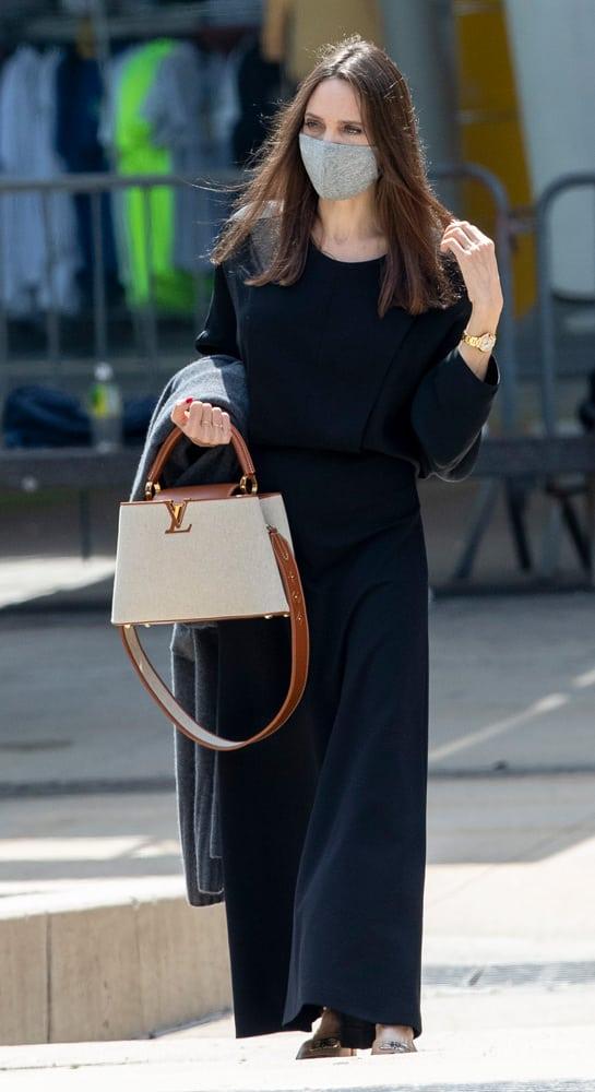 Angelina Jolie Louis Vuitton Capucines