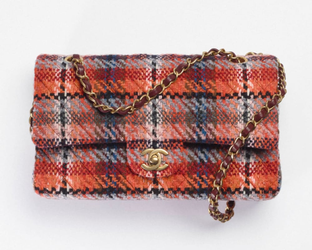 Chanel Tweed Flap Bag