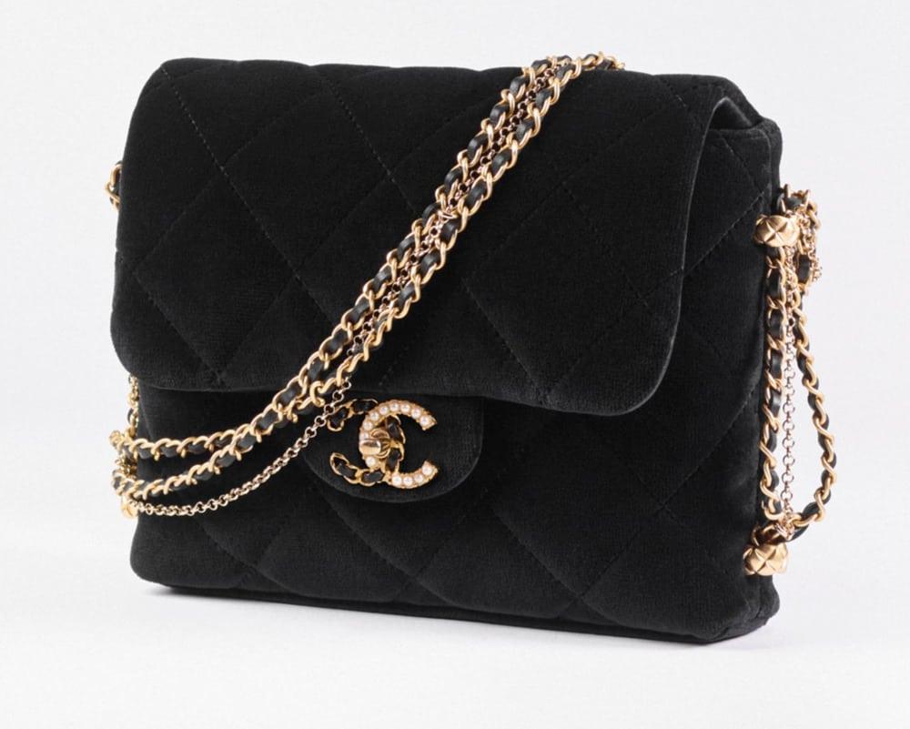Chanel Velvet Mini Flap
