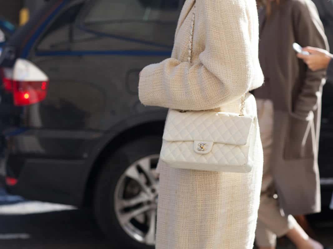 Chanel White Flap Bag