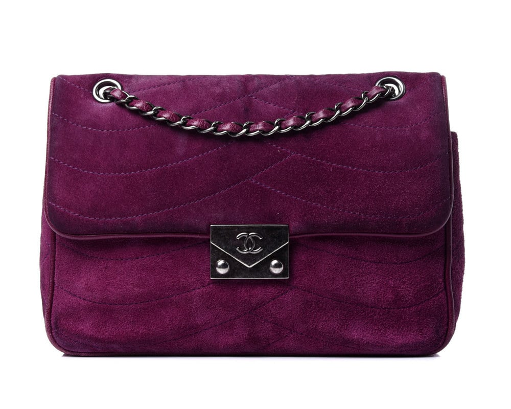 Suede Chanel Flap