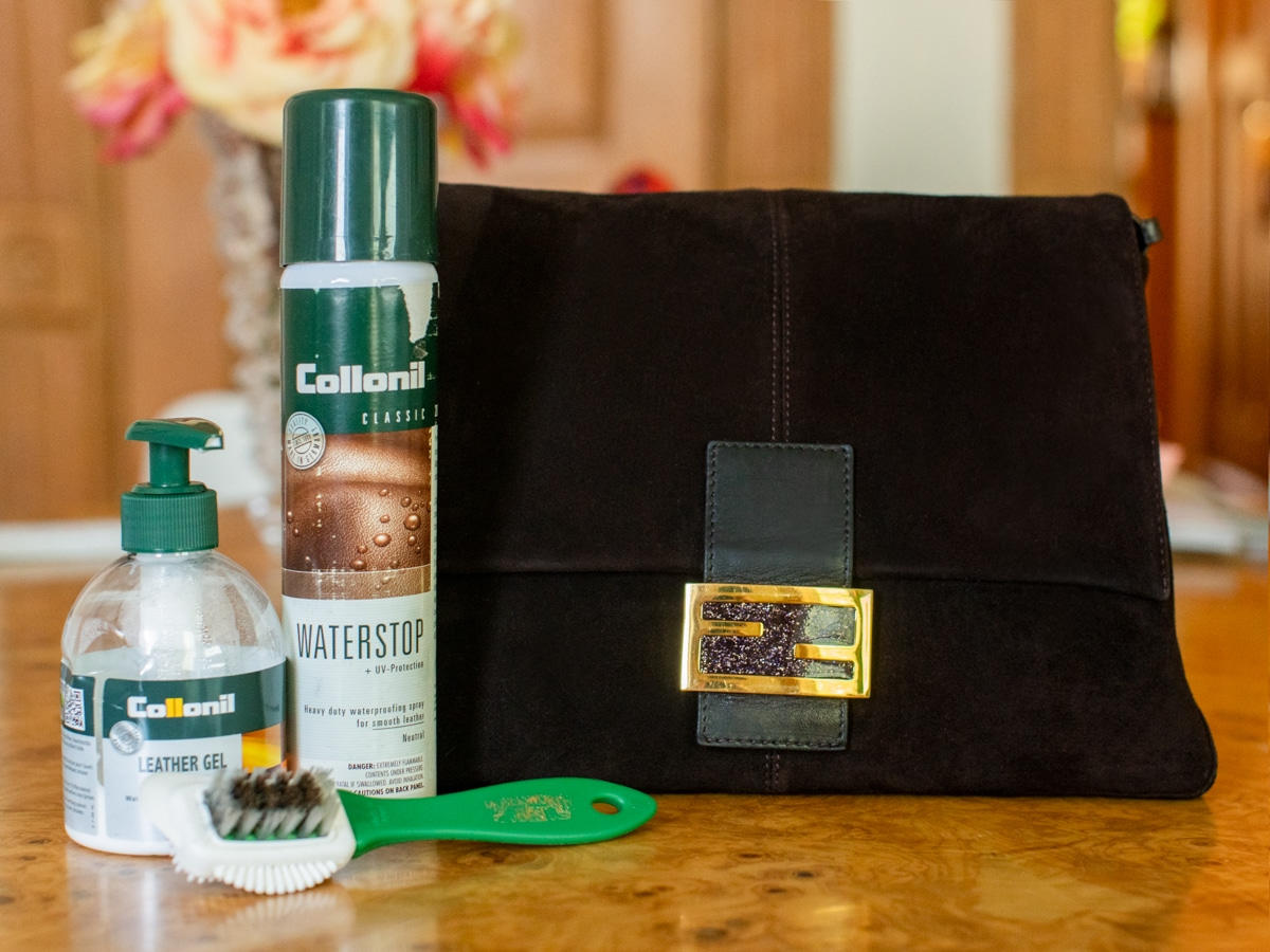 All products needed for Suede care