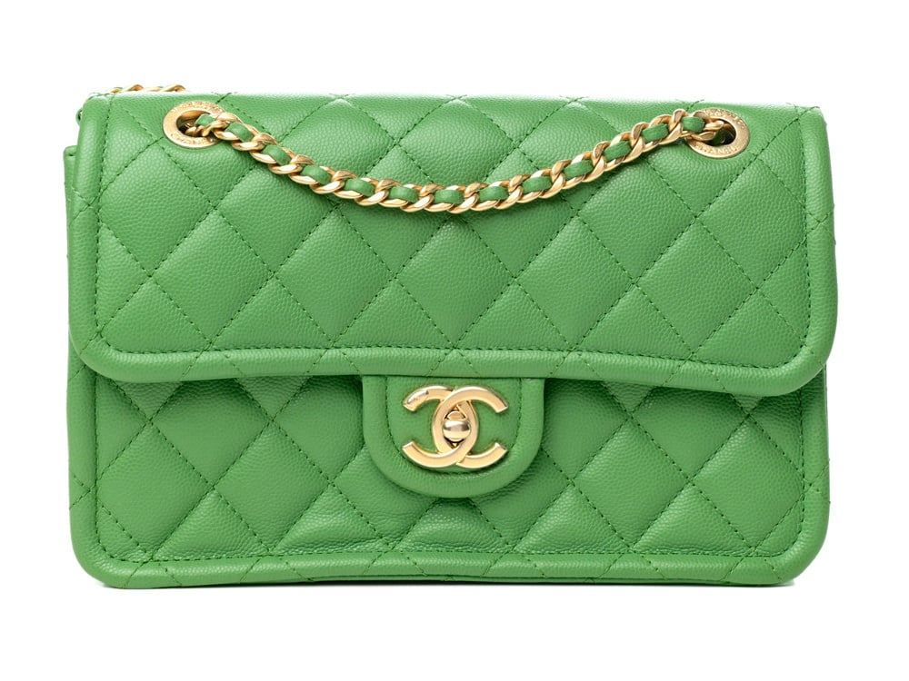 Green Chanel Flap