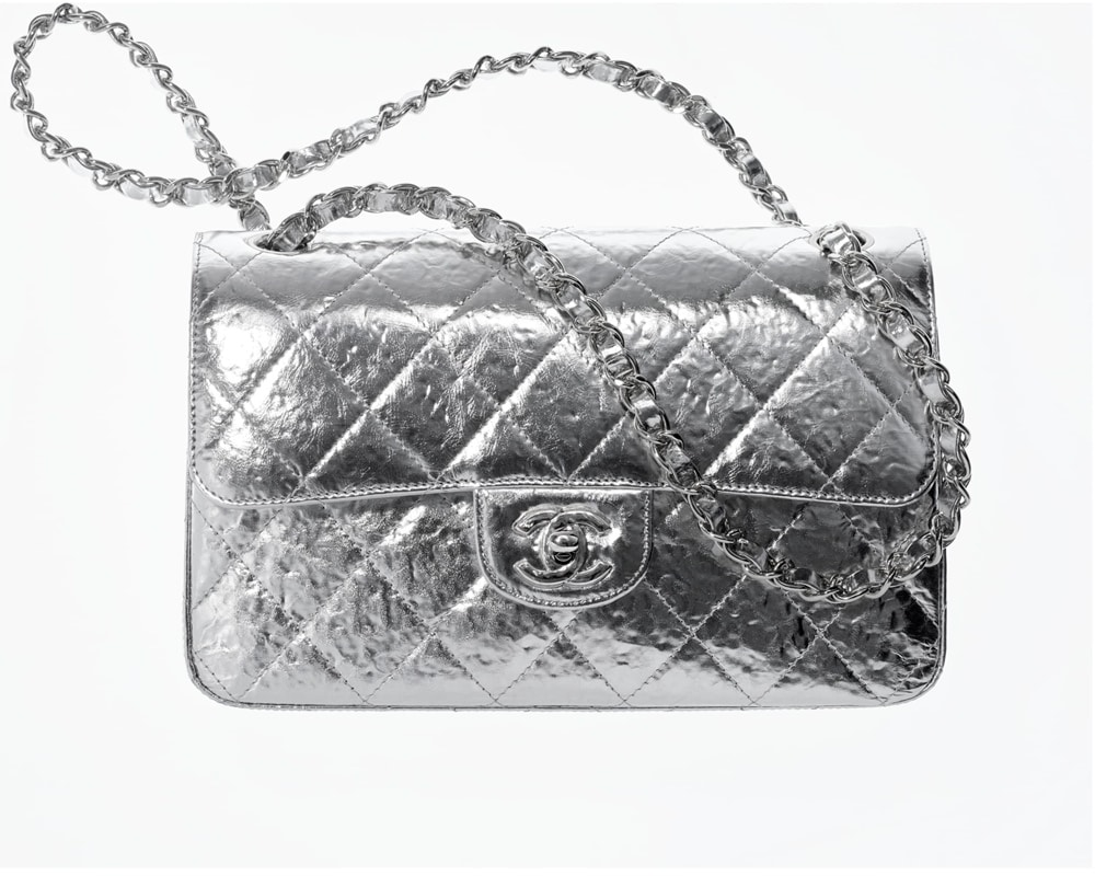 Chanel Classic Flap Silver